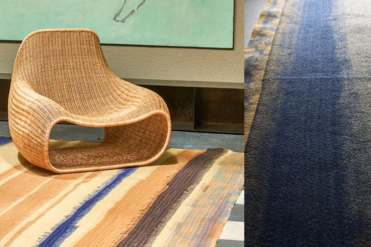 Teppichunikat von 13RUGS   African   Sand, Blau, Braun