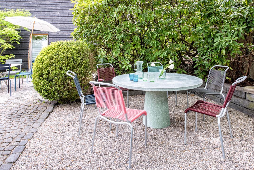 Gartentisch Dine out Cassina Terrazzo grün