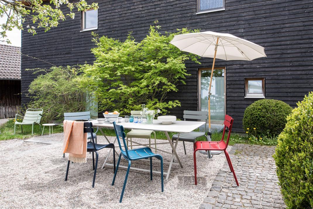 fermob-luxembourg Gartenstühle + Tisch Cargo fermob